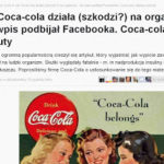 Natemat.pl odkrywa Amerykę: Coca-Cola jest szkodliwa