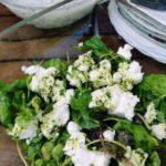 Zielona sałatka wiosenna ze świeżymi ziołami